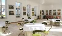 Salon de thé rénové du château de Bizy