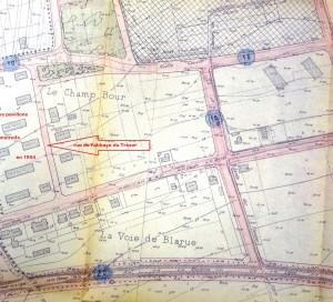 Plan quartier de Gamilly 1954