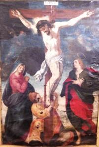 Calvaire ou sainte Marie, sainte Madeleine, saint Jean au pied de la croix
