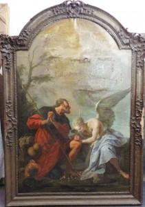 Saint Roch soigné par un ange