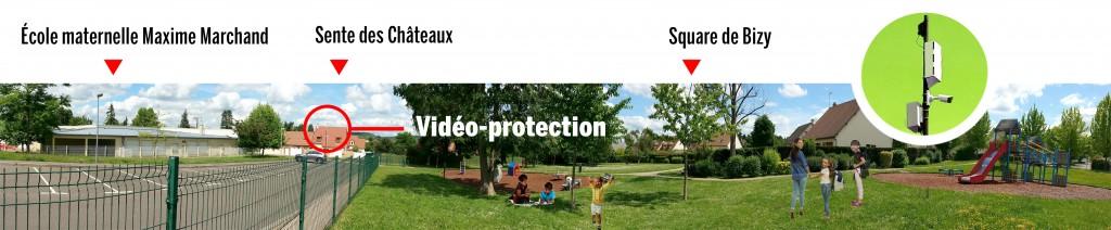 Une caméra de surveillance a été installée au square de Bizy. Les riverains ne se sentaient pas en sécurité et ont souhaité trouver une solution. Après de longues discussions, deux caméras nomades ont été achetées en septembre 2016. Les habitants ont déterminé les zones où elles devaient être installées. La seconde est positionnée quai de Seine.