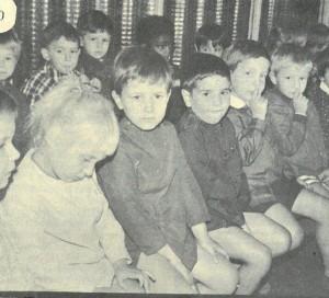 La rentrée des classes à l'école du Vieux-Château en 1969.