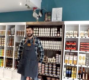 Cédric Joly vient d'ouvrir une épicerie fine, Aux saveurs de Ced.