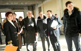 Sébastien Lecornu, Secrétaire d'État en charge de la Transition écologique et solidaire, Hervé Morin, Président de la Région Normandie et François Ouzilleau, Maire de Vernon, se sont rendus le 26 janvier au Campus de l'Espace