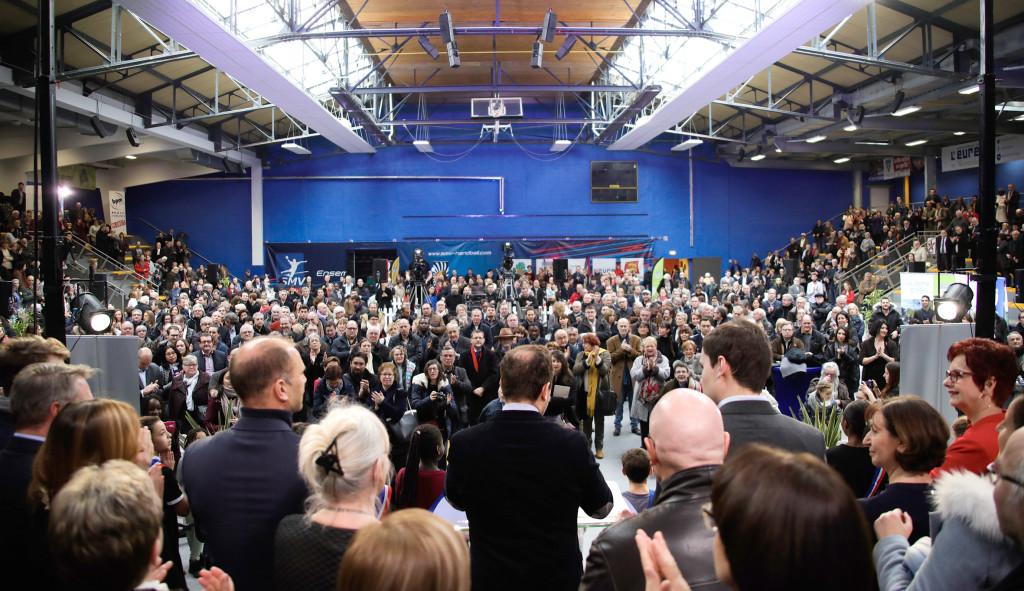 cérémonie des voeux vernon 2018 : 1200 personnes présentes au Grevarin