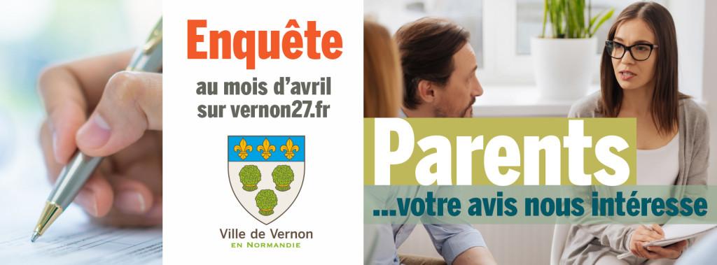 La ville de Vernon et ses partenaires souhaitent connaitre vos besoins en tant que parents afin d'y répondre au mieux.