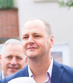 Johan auvray  Adjoint au maire chargé de la dynamisation commerciale  et de l'événementiel