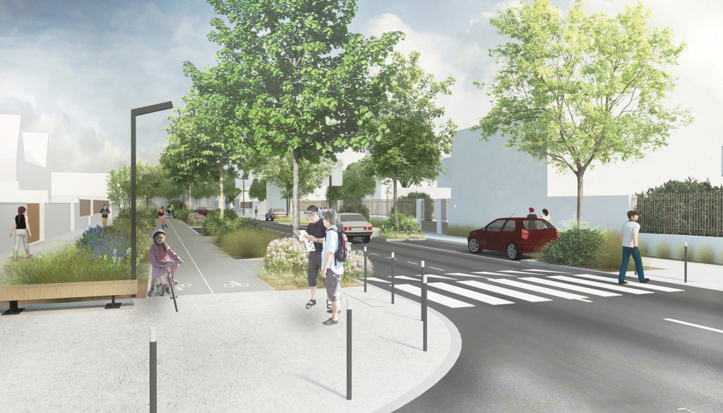 Les travaux de voirie sur le boulevard urbain amélioreront le partage de la rue pour tous les usagers dans un environnement végétalisé.