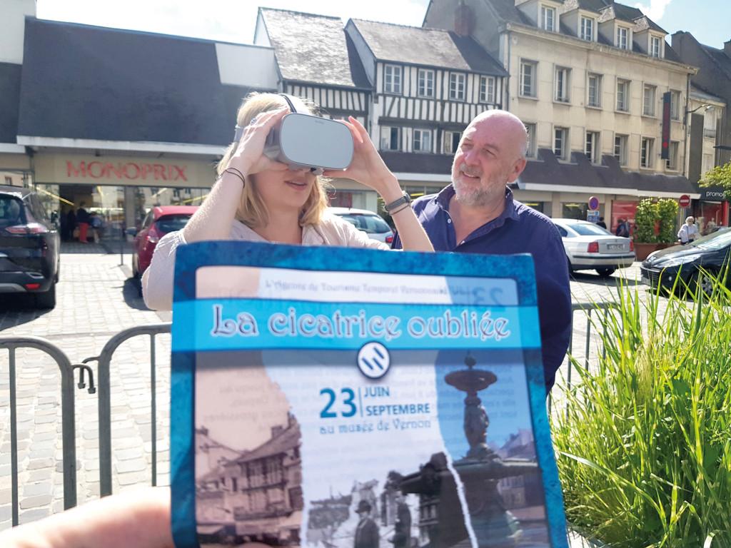 Reconstitution 3D La place  De Gaulle avant le bombardement