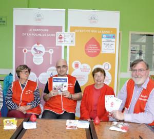 Laurine, Françoise, Mathieu, Mireille et François : cinq fiers «ambassadeurs» du sang !