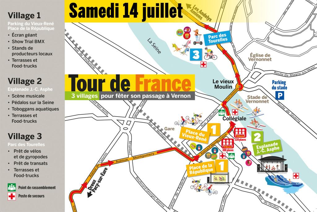 Tour de France à Vernon le 14 juillet