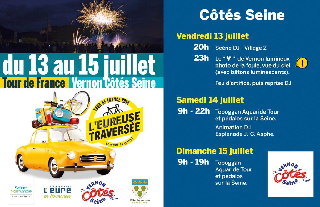 Vernon Côtés Seine du 13 au 15 juillet 2018