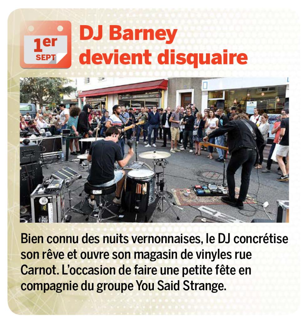 Bien connu des nuits vernonnaises, le DJ concrétise son rêve et ouvre son magasin de vinyles rue Carnot. L'occasion de faire une petite fête en compagnie du groupe You Said Strange.