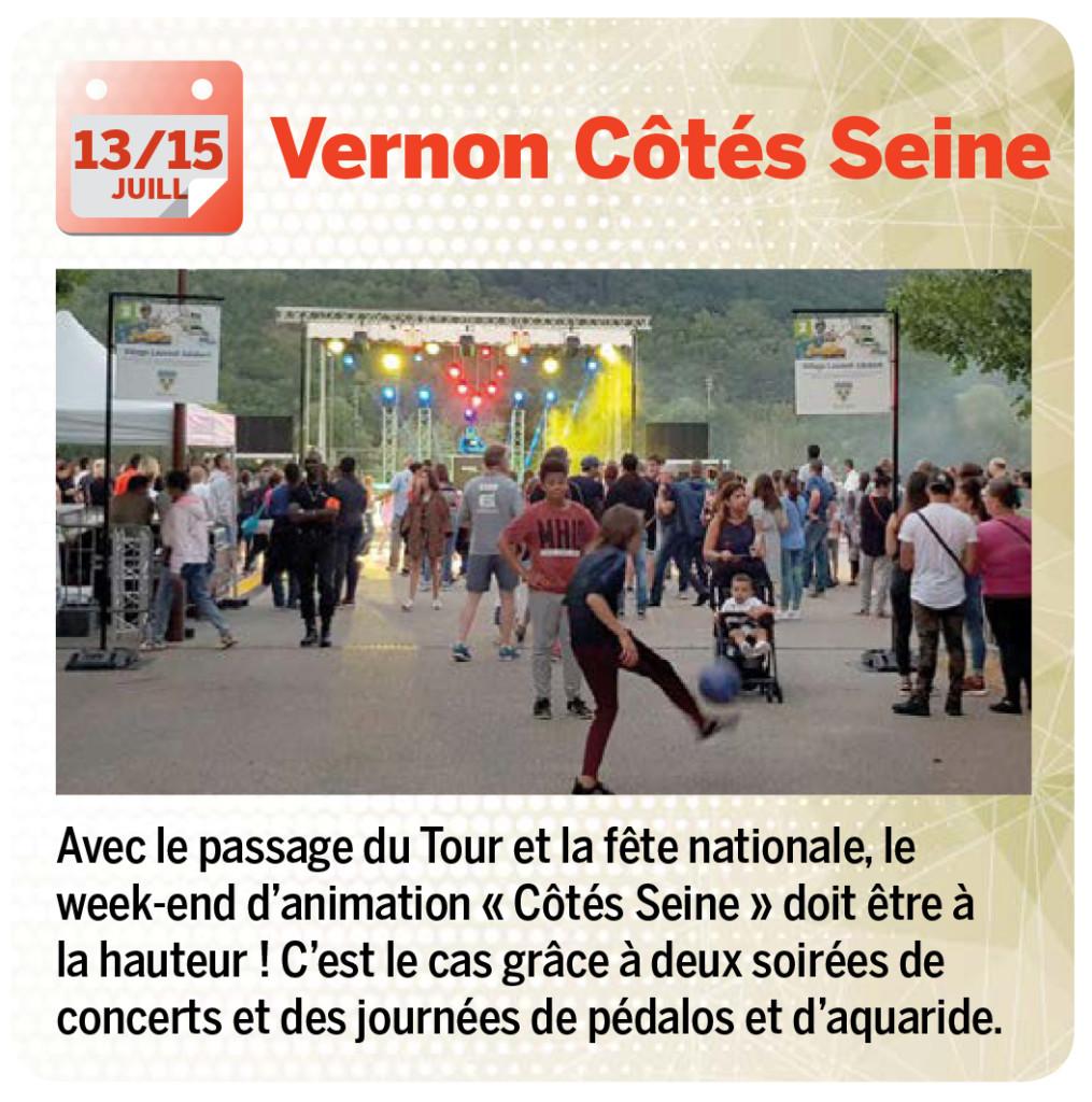 Avec le passage du Tour et la fête nationale, le week-end d'animation « Côtés Seine » doit être à la hauteur ! C'est le cas grâce à deux soirées de concerts et des journées de pédalos et d'aquaride.