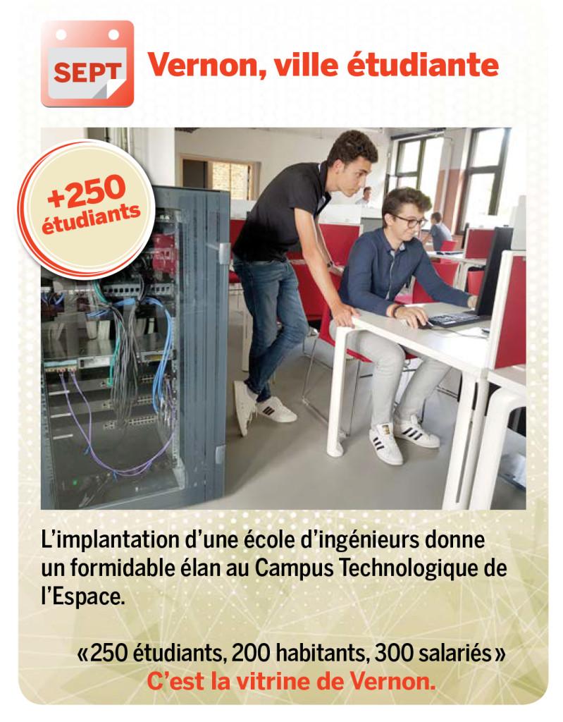 L'implantation d'une école d'ingénieurs donne un formidable élan au Campus Technologique de l'Espace.  «250 étudiants, 200 habitants, 300 salariés» C'est la vitrine de Vernon.