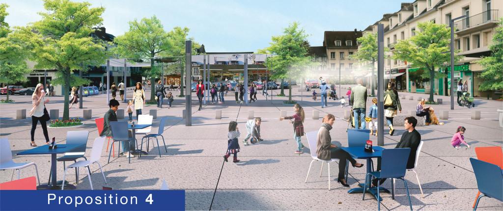 Consultation Cœur de Ville Les Vernonnais choisissent la proposition n° 4 !