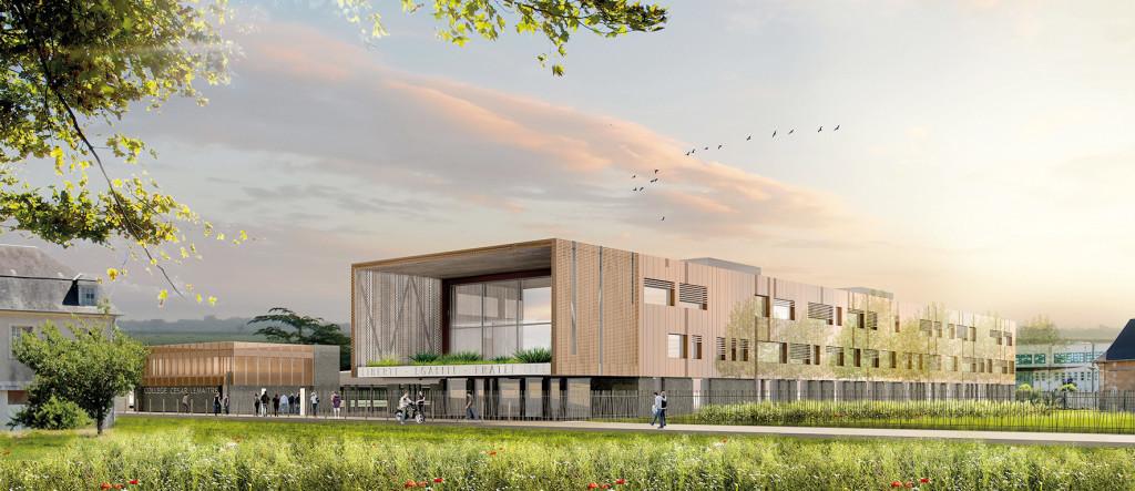 Devenue un éco-quartier prometteur, l'ancienne friche de la caserne va bientôt accueillir des centaines de jeunes. En effet, dès la rentrée 2020, c'est là que se dressera le nouveau collège César Lemaître.