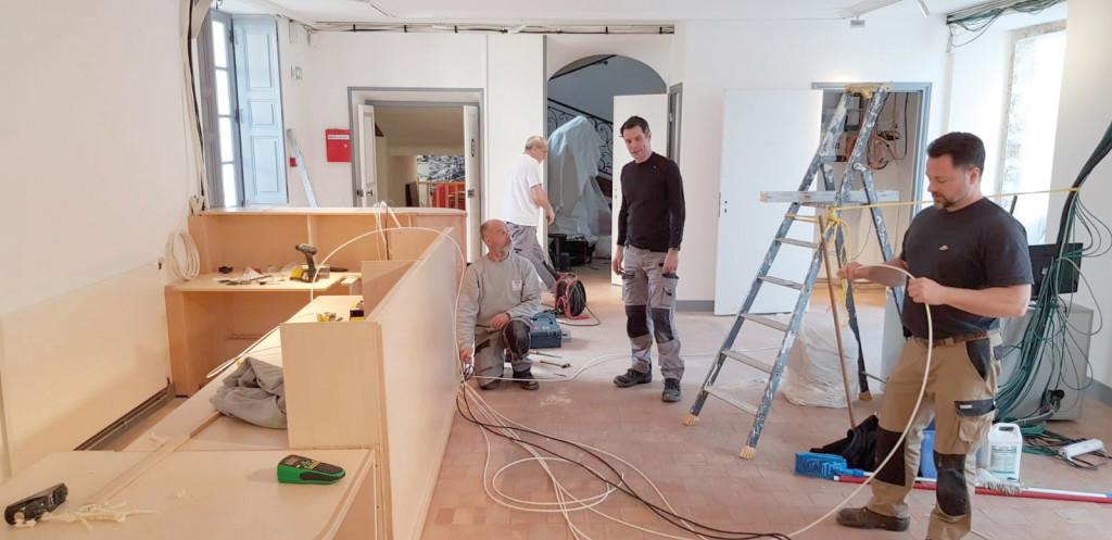 Les travaux ont entièrement été réalisés grâce aux compétences des employés de la régie bâtiment de la mairie.