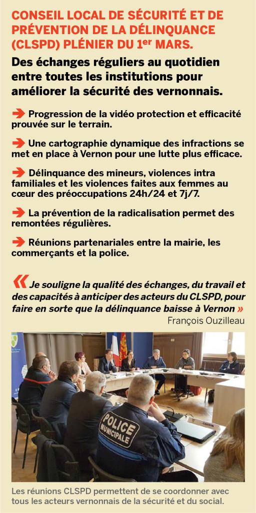 Conseil local de sécurité et de prévention de la délinquance (CLSPD) plénier du 1er mars.
