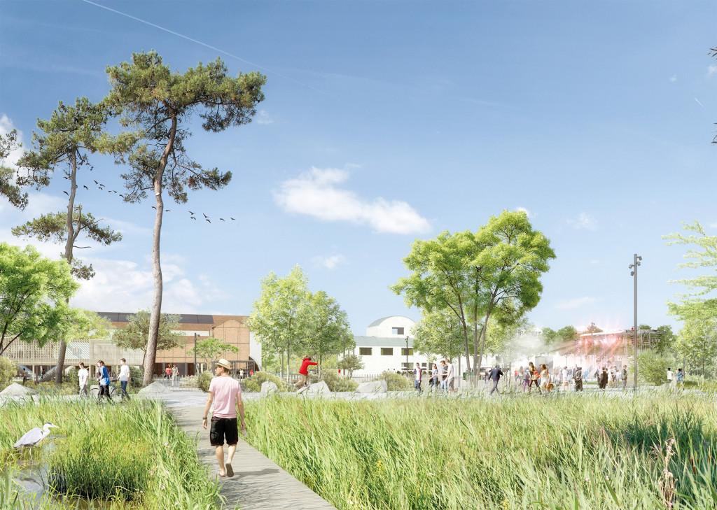 Prolongement du réaménagement des berges de Seine, achevé en 2018, le parc sera un pôle d'attractivité le long du fleuve, tel un pendant de Giverny.