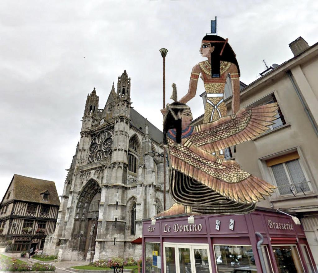 Un temple païen sur le terrain de l'actuel café le Domino.
