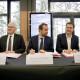 Le partenariat a été signé par Jean-Bernard Lévy, PDG du groupe EDF, Sébastien Lecornu, ministre chargé des collectivités territoriales et François Ouzilleau, maire de Vernon.