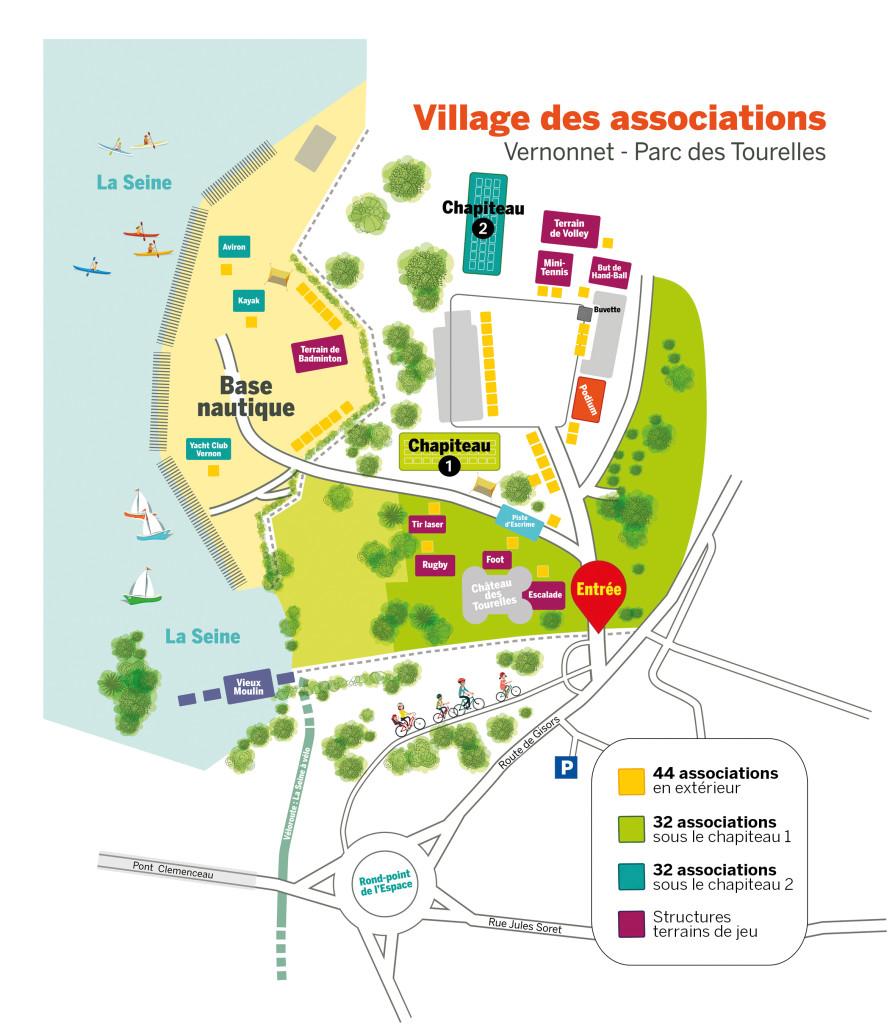 plan village des associations vernon 2019