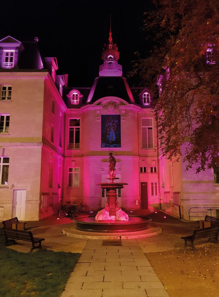 A l'occasion d'Octobre Rose, le mois de sensibilisation autour du cancer du sein, plusieurs monuments emblématiques de Vernon sont illuminés de cette couleur. Pendant un mois, l'hôtel de ville, le Vieux Moulin et la Tour des archives se parent de cette lueur d'espoir.