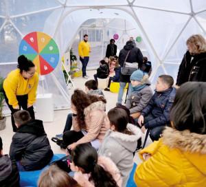 Google a proposé à 4 classes de CE2 de l'école Pierre Bonnard un atelier de sensibilisation dans le cadre de sa tournée nationale «Sécurité en Famille », qui visite 20 villes en France.