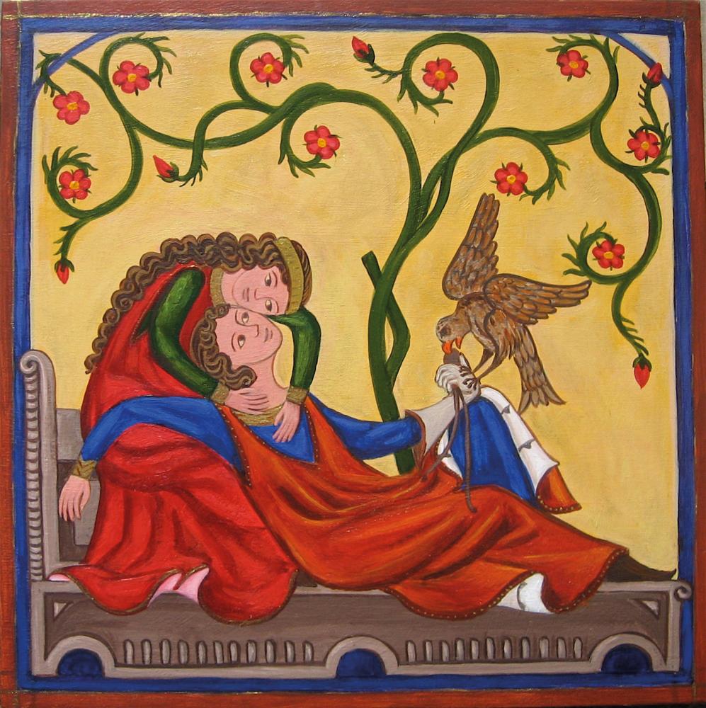 Des contes d'amour courtois que Rutebeuf chantait dans la rude langue des trouvères, poètes et jongleurs de l'époque. De passage à Vernon, il s'enivra un peu trop. Placé en dégrisement par la police municipale de l'époque dans la Tour des Archives
