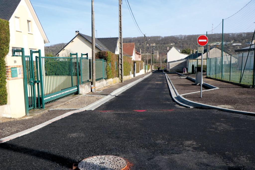 Quartier du Moussel La rue Jaudin réaménagée