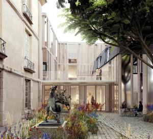 Voici le futur visage du musée A.-G. Poulain réalisé par le cabinet d'architecture Jung. Les travaux prévoient la restructuration totale de l'aile droite, un renouveau complet de la scénographie, des espaces repensés pour l'accessibilité, la création d'une salle de médiation, la prise en compte des défis environnementaux, l'amélioration de la sécurité et de la conservation des oeuvres.