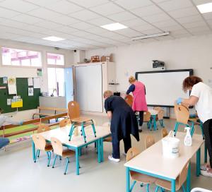 Les écoles ont été intégralement nettoyées et désinfectées par la mairie avant la rentrée.