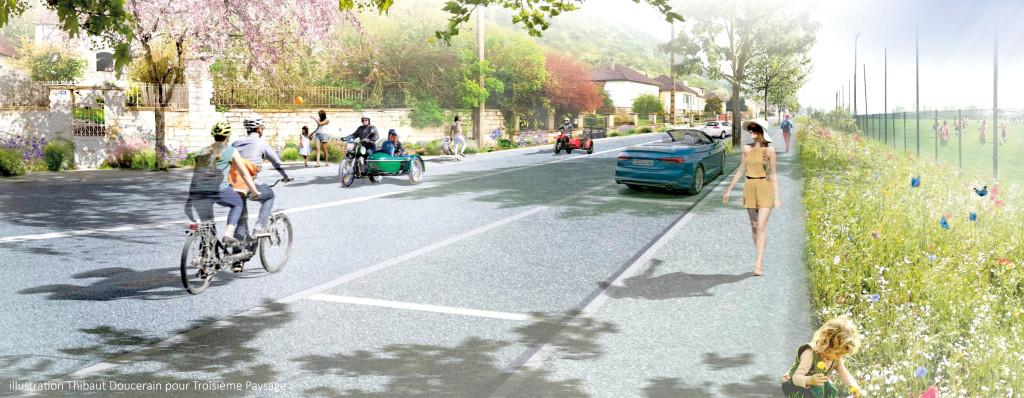 Les travaux de la route de Giverny, qui commenceront en juin, permettront de changer le visage de celle-ci.