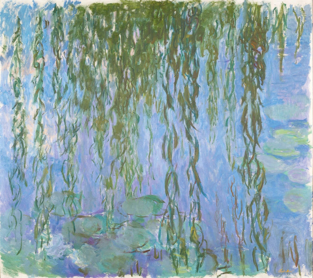 Les Nymphéas avec rameaux de saule, Claude Monet.