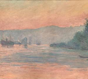 La Seine près de Rouen, toile de Blanche Hoschedé-Monet (1865-1947),