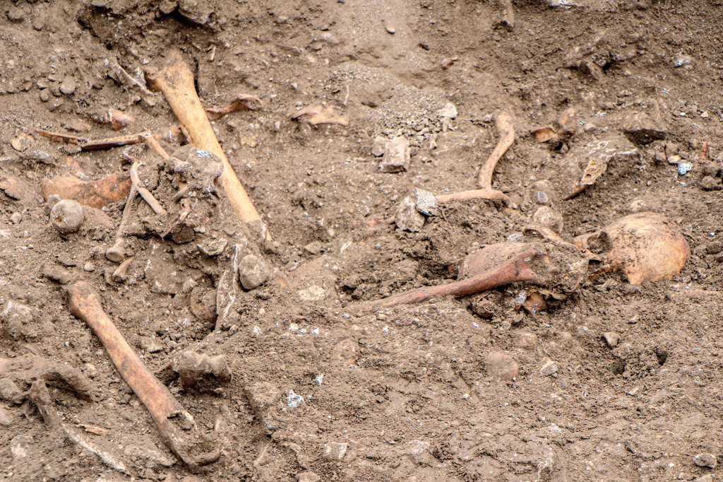 Parmi les vestiges, beaucoup de sépultures, une cave du XVe ou XVIe et des restes d'habitations médiévales.