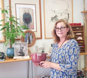 Danoise, Jane Haagensen est installée en vallée de Seine depuis 22 ans.
