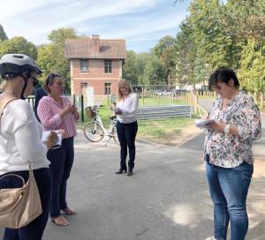 La visite à vélo a également permis de respecter le protocole sanitaire et la distanciation physique.