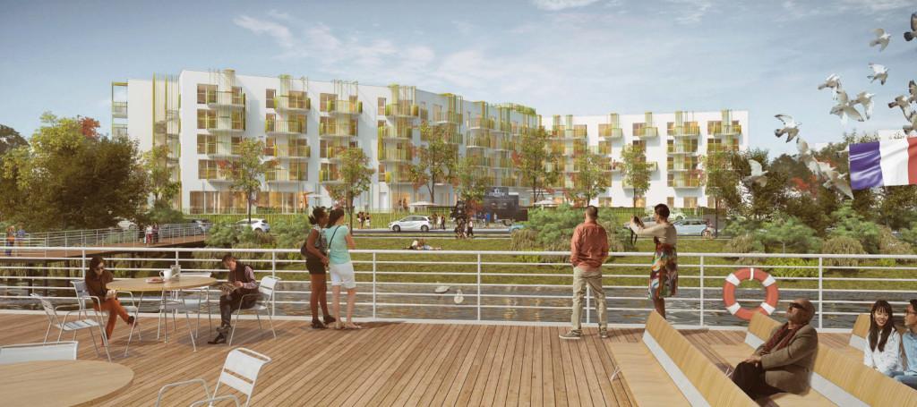 La future résidence seniors sera située en face du deuxième quai croisière mail Anatole France.
