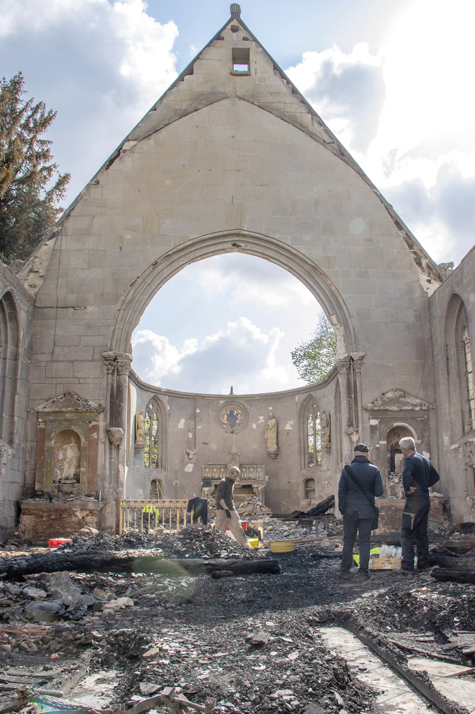 CD27 Département de l_Eure Incendie Eglise Romilly-la-Puthenay Solidarité Cagnotte Patrimoine