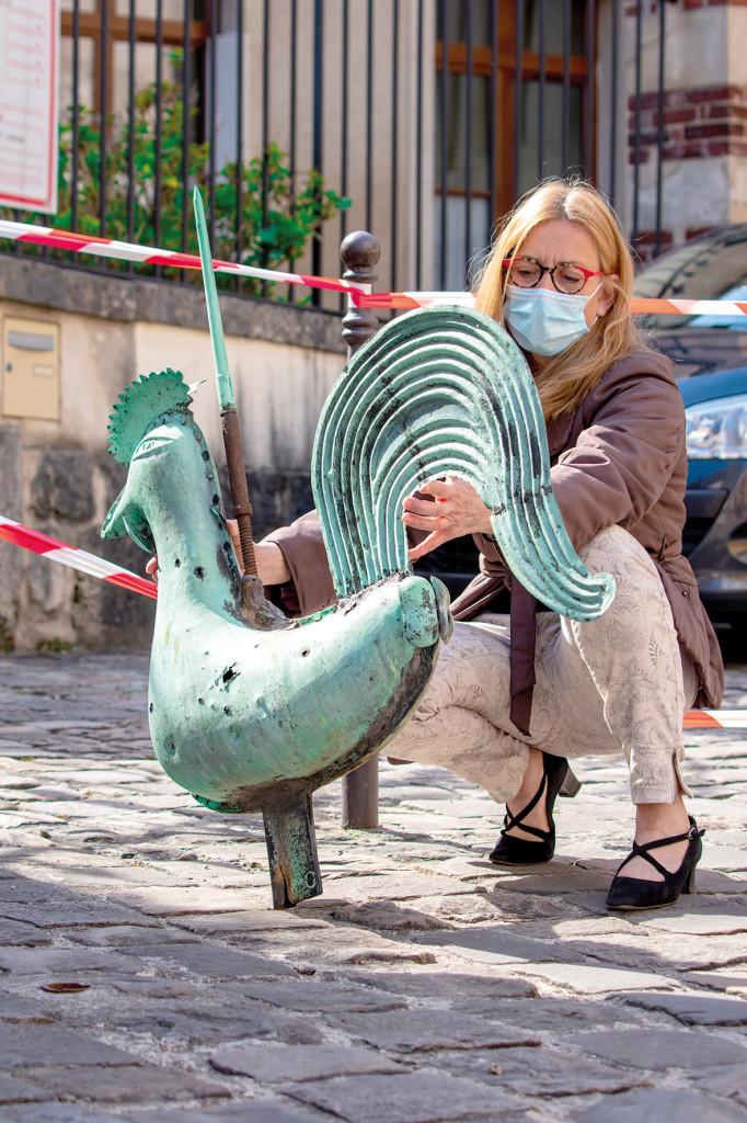 Coq Girouette Collégiale Travaux Restauration Patrimoine Culture