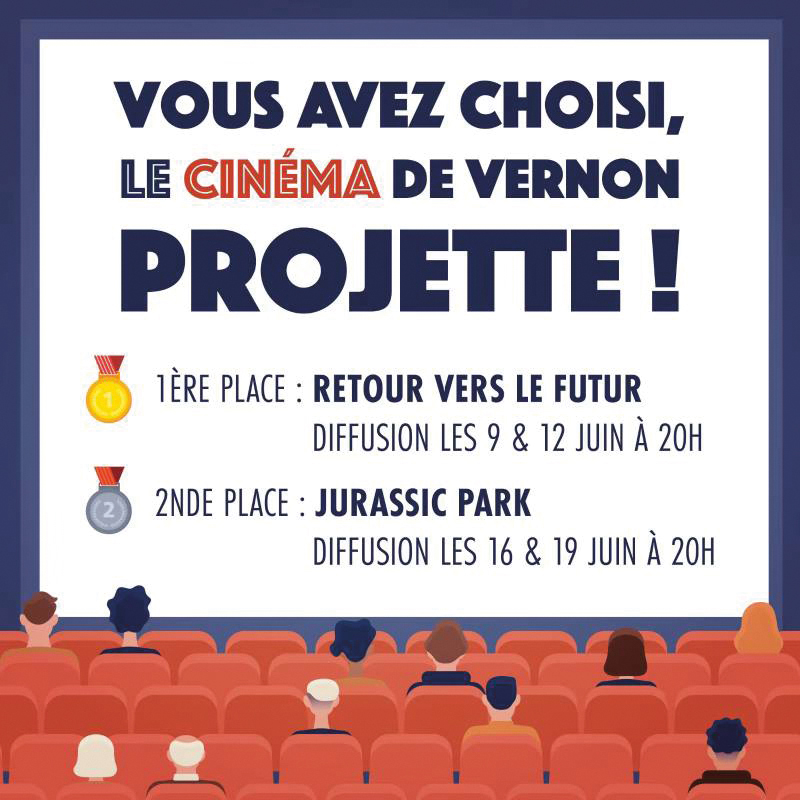 Cinéma Vote Populaire Projection Retour Vers le Futur Jurassic Park