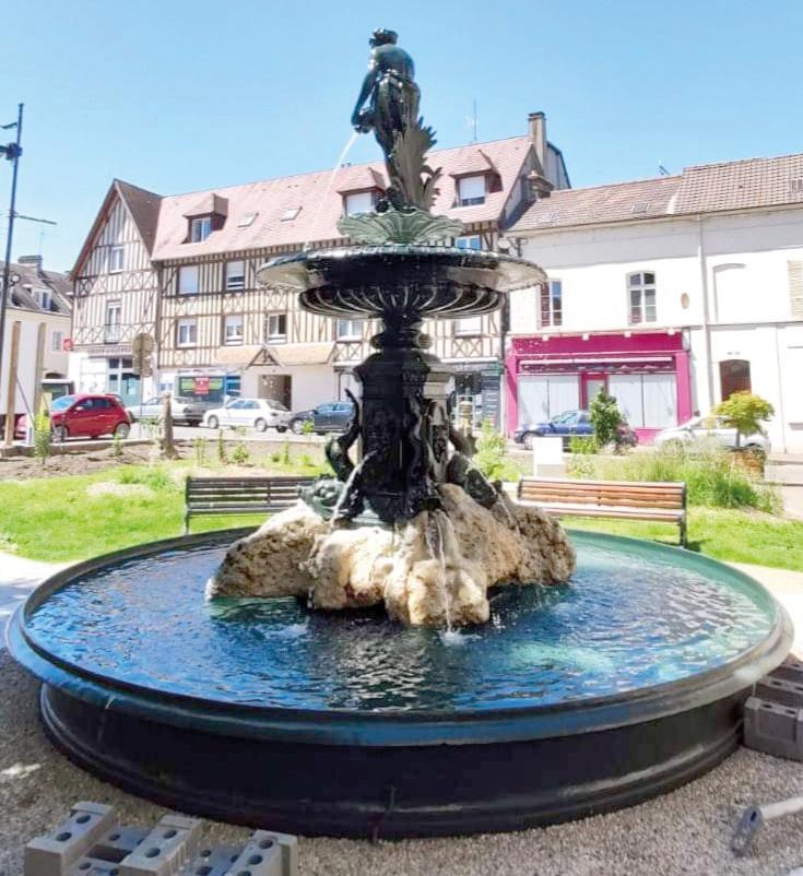 Infotravaux Remise en Eau Fontaine Place Barette Mairie