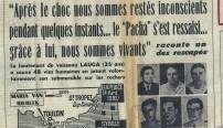 Le quotidien Nice-Matin relate l'accident des deux sous-marins dans ses pages le 22 août 1970.