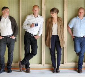 De gauche à droite, Frédéric Boussuge, Thierry Bethfort, Amélie Collard et Fabien Traon, se sont rejoints en septembre pour former la coopérative Val de Seine.