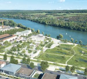 Avec ses 30 000 m², le parc de la fonderie sera un vaste espace ouvert sur la ville et le fleuve, réinscrivant Vernon dans son axe historique : la Seine.