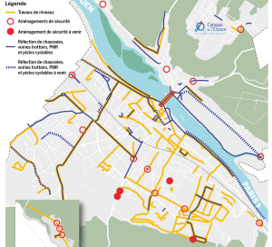 La municipalité mène une politique d'urbanisme dont le but est de faire rattraper son retard à Vernon. Celle-ci s'est traduite par de nombreux travaux, certains très visibles, d'autres plus discrets.