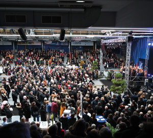 Foule cérémonie des voeux vernon 2020