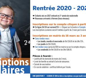rentrée scolaire 2020 2021